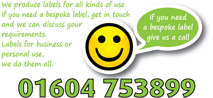 contact us for a bespoke label banner