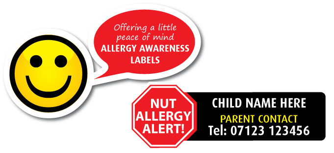 allergy alert labels banner
