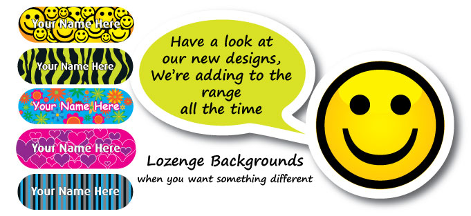 lozenge shaped labels banner