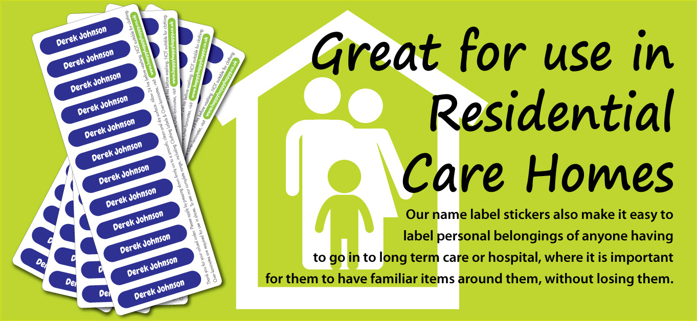 Name labels for Care Homes